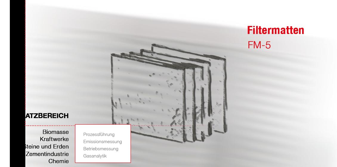 Skizze von Filtermatten zum Einsatz in Filterlüftern. Detail findet Anwendung in Anlagen zur Gasanalyse