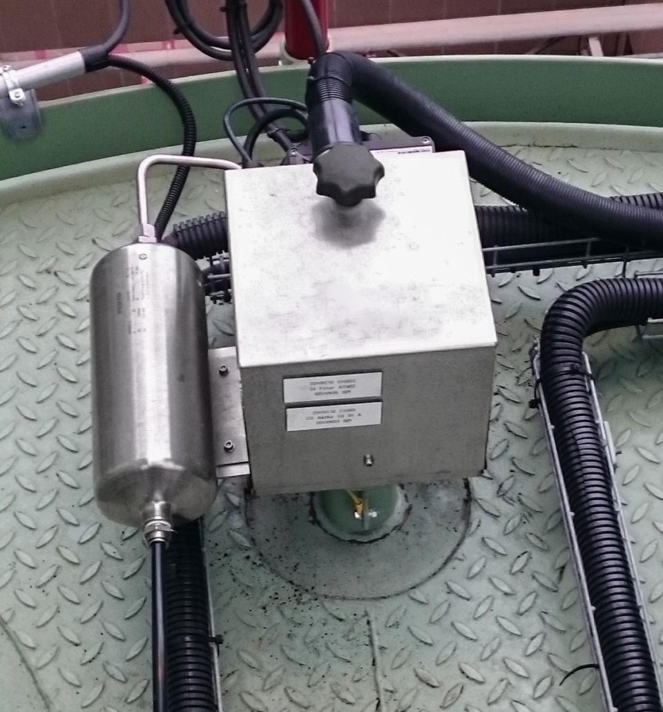 Abbildung einer Gasentnahmesonde auf Silodach