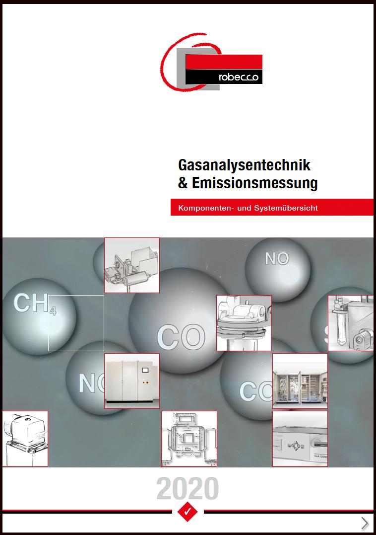 Titelbild der Komponentenübersicht für die Gasanalysentechnik